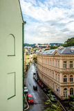karlovy поменяйте Улицы после дождя Стоковая Фотография RF