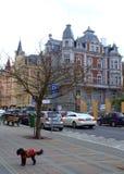 Karlovy unterscheiden sich Tschechische Republik Stockbild