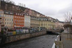 Karlovy unterscheiden sich, Tschechische Republik Stockfotografie