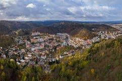 Karlovy varía en República Checa Imagen de archivo