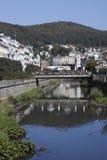 Karlovy varía la visión Foto de archivo libre de regalías