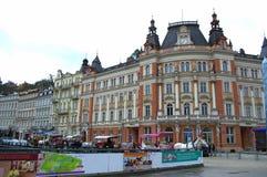 Karlovy varía vista Fotografía de archivo libre de regalías