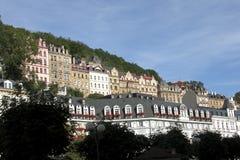 Karlovy varia a arquitectura da cidade foto de stock