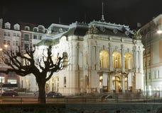 Karlovy varia il teatro di opera della città, repubblica Ceca fotografie stock libere da diritti