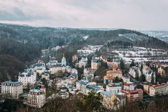 Karlovy varia Karlsbad República checa Fotografia de Stock