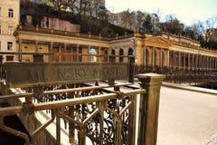Karlovy varia, la Repubblica ceca immagine stock