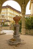 Karlovy varia a mola mineral Imagem de Stock