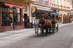 Karlovy varia, república checa Imagem de Stock