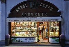 Karlovy-varieer, 28 Augustus: De herinneringen winkelen de stad in in Karlovy variëren in Tsjechische Republiek Royalty-vrije Stock Afbeeldingen