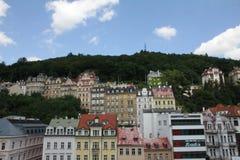 Karlovy varieert of Carlsbad in westelijke Bohemen, Tsjechische Republiek royalty-vrije stock foto's