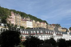 Karlovy varient le paysage urbain Photo stock