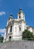 Karlovy varierar denMagdalena kyrkan royaltyfri bild