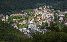 Karlovy Vary. The colorful Karlovy Vary as seen from above Royalty Free Stock Photography