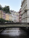 Karlovy Vary. Beautiful houses in Karlovy Vary royalty free stock photos