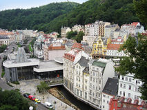 Karlovy Vary. Beautiful houses in Karlovy Vary royalty free stock images