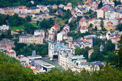Karlovy Vary. Czech Republic. View on the city from a tower royalty free stock images