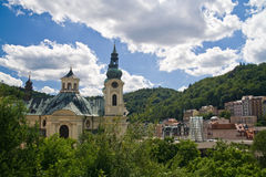 Karlovy Vary. City of mineral springs, Czech Republic stock photo