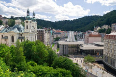 Karlovy Vary. City of mineral springs, Czech Republic royalty free stock images