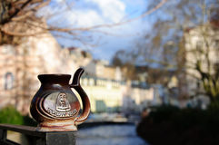 Karlovy vary. The picture of cup taken in Karlovy Vary royalty free stock photos