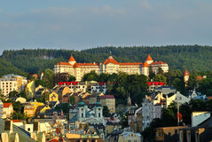Karlovy Vary. View of Karlovy Vary in the summer royalty free stock image
