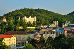 Karlovy vary. View of Karlovy Vary, in clear weather stock photos