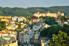 Karlovy Vary. View of Karlovy Vary in the summer stock photo