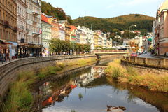 Karlovy Vary. Spa Town Karlovy Vary in Czech Republic royalty free stock photography