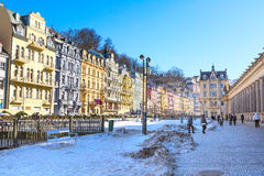 Karlovy Vary aerial panorama view, Czekh Republic Stock Photo