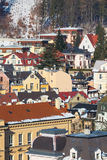 Karlovy Vary aerial panorama view, Czekh Republic Royalty Free Stock Image
