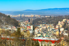Karlovy Vary aerial panorama view, Czekh Republic Royalty Free Stock Photography