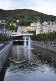 Karlovy-Vary,August 28:Downtown landscape in Karlovy Vary in Czech Republic Stock Photos