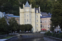 Karlovy-Vary,August 28:Historic Building in Karlovy Vary in Czech Republic Royalty Free Stock Photography