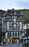 Karlovy-Vary,August 28:Hotel Building in Karlovy Vary in Czech Republic royalty free stock photos