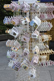 Karlovy-Vary,August 28:Souvenirs stand downtown in Karlovy Vary in Czech Republic royalty free stock photography