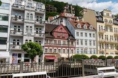 Karlovy Vary-Aussicht, Tschechische Republik lizenzfreie stockbilder