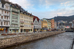 Karlovy Vary, Böhmen, Tschechische Republik stockfotos