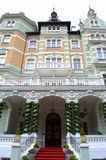 Karlovy Vary beautiful mansion Royalty Free Stock Photo