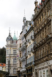 Karlovy Vary (Carlsbad) -- famous spa city in western Bohemia, very popular tourist destination in Czech Republic Stock Photography