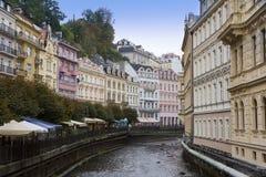 Karlovy Vary (Carlsbad), Tepla river.  Czech Republic Royalty Free Stock Image