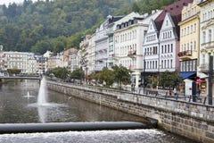 Karlovy Vary Carlsbad, Tepla river.  Czech Republic Royalty Free Stock Photos