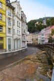 Karlovy Vary Carlsbad, Tepla river.  Czech Republic Stock Photo