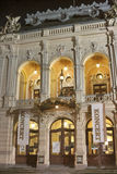 Karlovy Vary City Opera Theatre at night, Czech Stock Photography