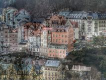Karlovy vary city scape. From near the bus stop Panorama Royalty Free Stock Photos