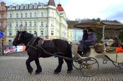 Karlovy Vary coach Royalty Free Stock Photo