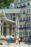 Karlovy Vary concentra, ¡ da, repubblica Ceca di Kolonà del nà del ¾ di TrÅ Immagini Stock Libere da Diritti
