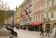 Karlovy Vary,Czech famous spa place Royalty Free Stock Photo