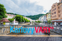 Karlovy Vary. At Czech Republic stock image
