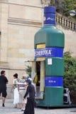 Karlovy Vary, Czech Republic - Becherovka Kiosk. KARLOVY VARY, CZECH REPUBLIC - AUGUST 14: A Becherovka Kiosk. Becherovka is a traditional herbal bitters liquer Royalty Free Stock Image