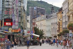 Karlovy Vary, Czech Republic - World Spa - Center of the business City Stock Photos