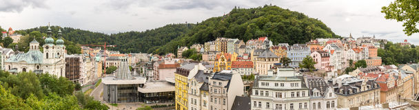 Karlovy Vary Czech Republic. Karlovy Vary Downtown Panorama Czech Republic royalty free stock photo